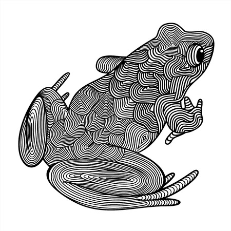 Vector illustration of abstract frog on white background