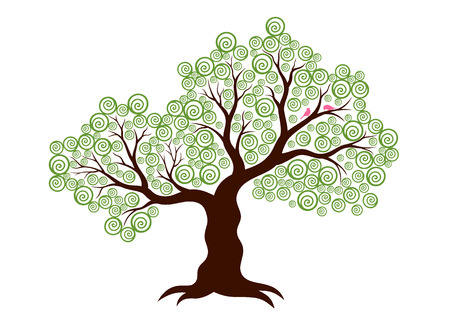 Vector illustration of abstract tree on white background Vector