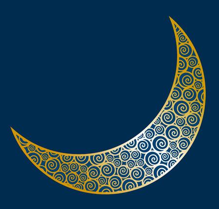Vector illustration of abstract crescent moon Illustration