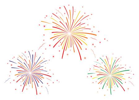 Vector illustratie van vuurwerk