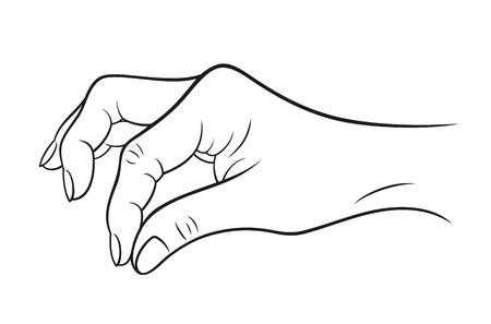 """Handgebaar """"open"""" op een witte achtergrond. vector illustratie Stock Illustratie"""
