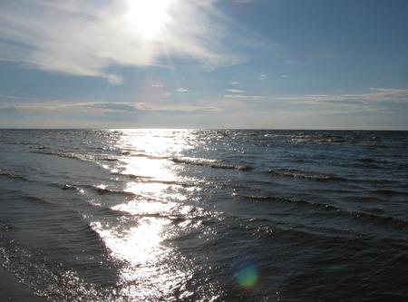 jurmala: Seashore of Riga gulf, Baltic Sea, Jurmala, Latvia Stock Photo