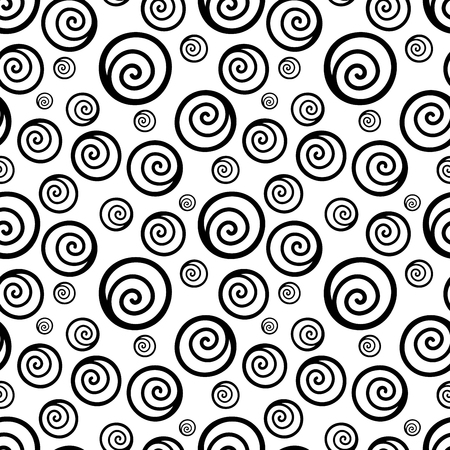 swirls vector: Seamless background with swirls. Vector illustration Illustration