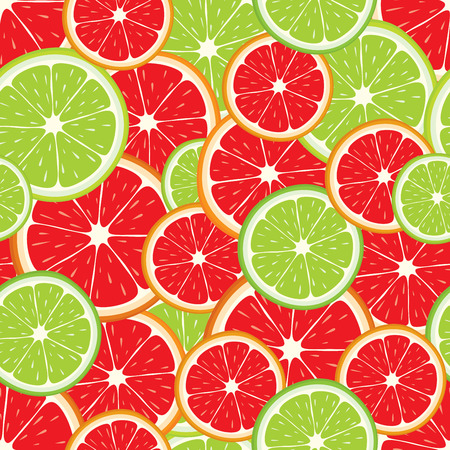 multivitamin: seamless background of lime and grapefruit slices.