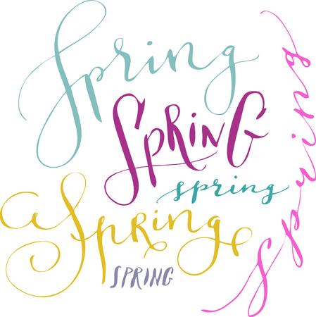 Spring hand written word