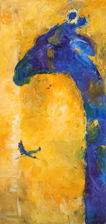 抽象的な手は、油彩画の構成、背景を描画します。アート コンセプト