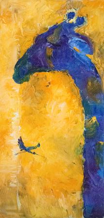 Abstracte hand tekenen olieverfschilderij samenstelling, achtergrond. Kunst concept