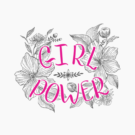 Motivating words for women, against the background of beautiful flowers