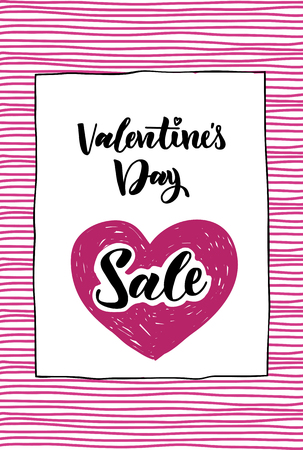 happy Valentine s day. design for holiday greeting card and sales for the store , Valentine s day and Happy love day. Vector design Illustration