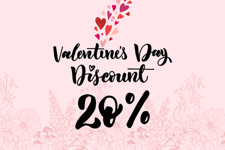 happy Valentine s day. design for holiday greeting card and discount for the store , Valentine s day and Happy love day. Vector design