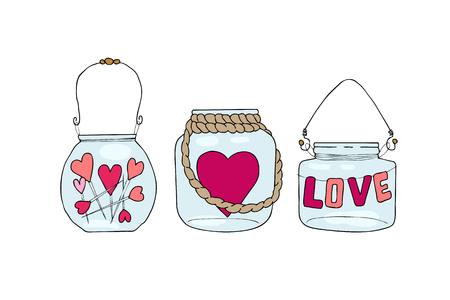 Illustration of hand drawn doodle jar isolated on white background. Ilustrace