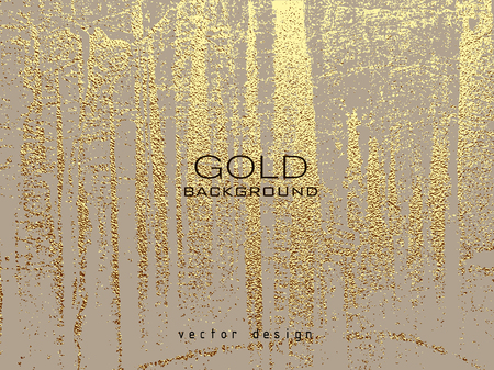 Gold grunge texture to create distressed effect. Patina scratch golden elements. Illustration