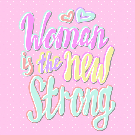 Girl power quote. Grl pwr hand drawn lettering. Womens right. Female, feminism symbols.Vector pop art illustration. Can be used as print for poster, t shirt, postcard.