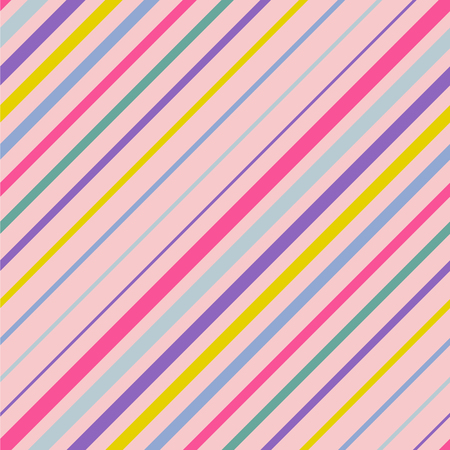 Abstract colorful diagonal striped background. Rose quartz and serenity. Vector seamless pattern