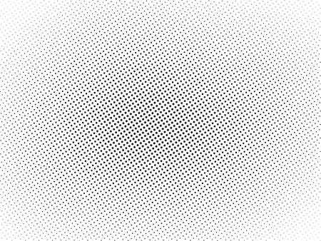 Black and White halftone background, texture with vignette Illustration