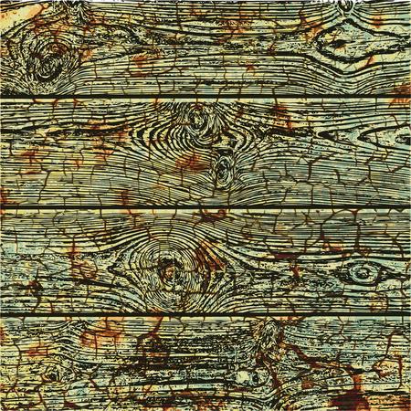 ベクトル古い木製の背景。グランジテクスチャ。木製の板のリアルなイラスト。