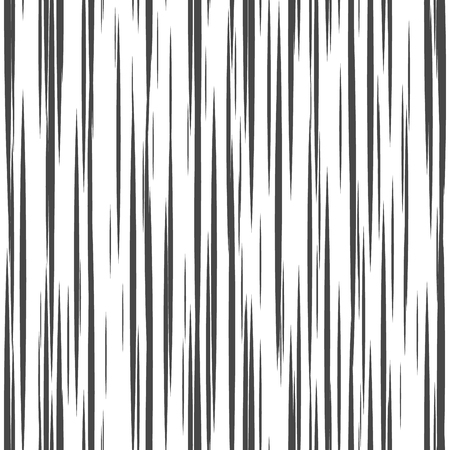 Striped seamless pattern with vertical line. Black and white fashion graphics design. Strict graphic background. Retro style. Template for wallpaper, wrapping, textile, fabric. Vector Illustration.  イラスト・ベクター素材