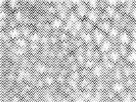 Halftone background. Wavy, zig-zag horizontal parallel lines. Abstract monochrome pattern. Vector illustration.