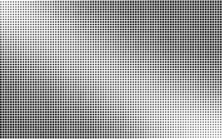 Black and white squares background. Light effect. Gradient background with squares . Halftone squares design. Vector isolated object for website, card, poster
