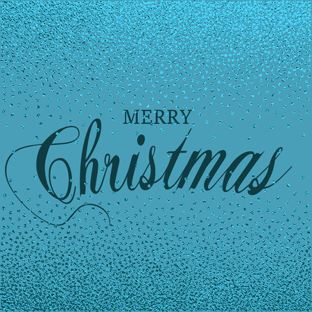 Merry Christmas. Metallic glossy texture. Metal blue pattern. Abstract shiny background. Luxury sparkling background for greeting cards, posters.