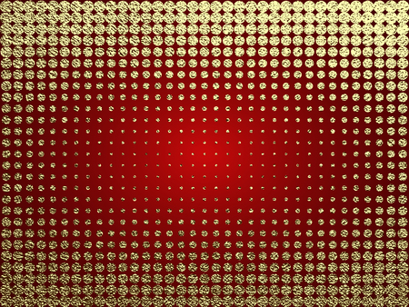 Golden glossy texture. Metal pattern. Gold festive background with dots, for greeting card or wrapping paper.