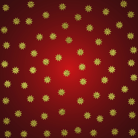 Golden glossy texture. Metal pattern. Gold festive background with stars , for greeting card or wrapping paper.