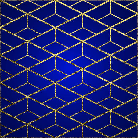 Golden glossy texture. Metal pattern. Gold festive background, greeting card or wrapping paper. Illustration