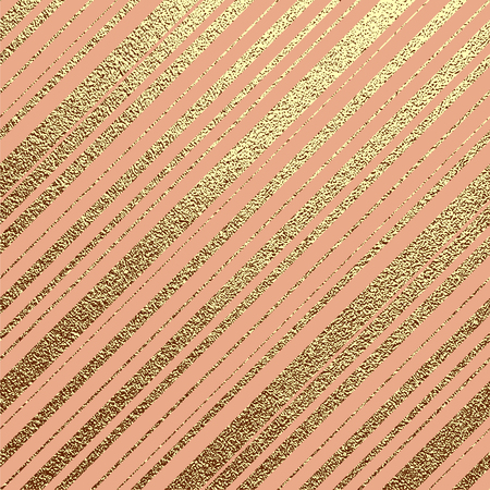 Gold pattern with diagonal stripes. Abstract golden background. Vector illustration