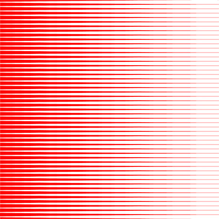 Horizontal Speed lines Sun rays or star burst Abstract red vector elements on white background