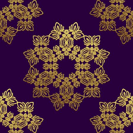 Gold Decorative flower Mandala. Golden Vintage, ethnic element. Oriental pattern, vector illustration for wedding invitations, greeting cards. Islam, Arabic, indian, turkish pakistan chinese ottoman motifs