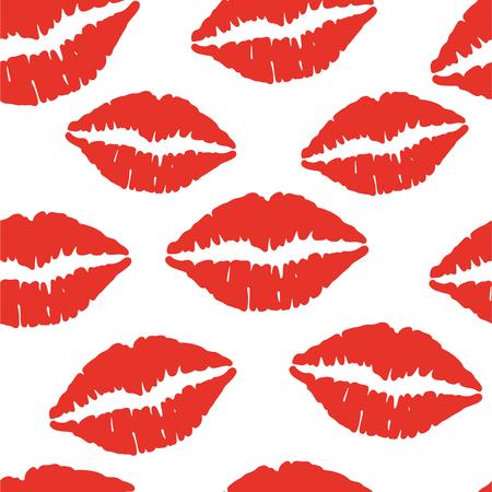 Lips seamless pattern.