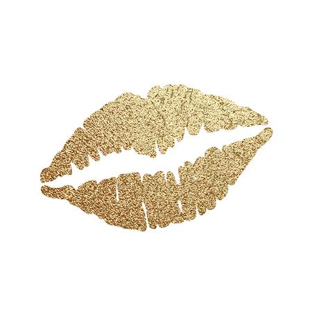 Gold lips illustration vector Banque d'images - 122622940