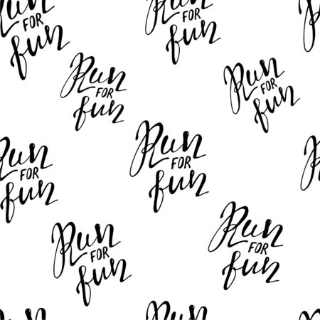 Run motivation background. Seamless sport pattern. Vector illustration