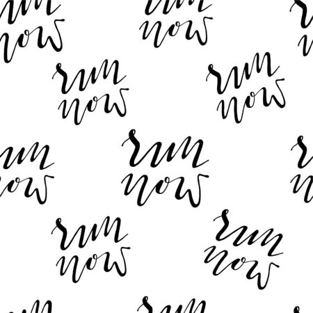 Run motivation background. Seamless sport pattern.