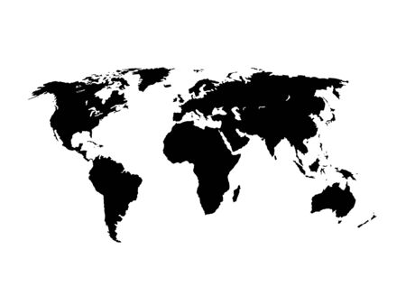 World Map silhouette vector illustration Stock Illustratie