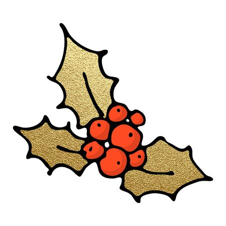 Christmas clip art, hand drawn icon. Vector illustration