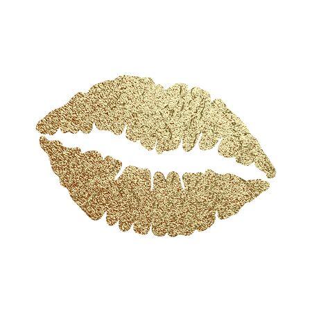 Gold lips illustration vector Ilustrace