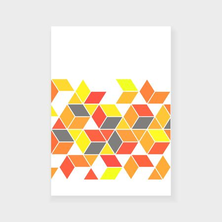 Annual Report Cover Design with geometric elements Ilustrace