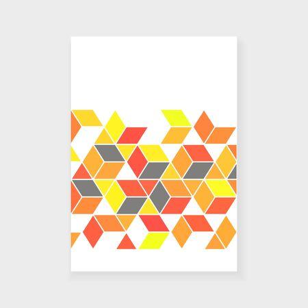Annual Report Cover Design with geometric elements Illusztráció