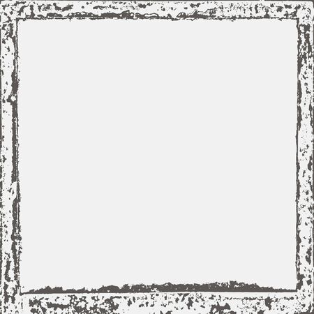 Grunge border texture in black and white. Textured background, frame. Vector template. Banco de Imagens - 133776683