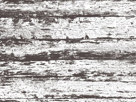 Wood grunge texture in black and white. Wooden background. Vector template. Grunge vector texture. Çizim