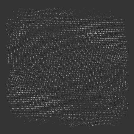 Textile grunge texture in black and white. Textured background. Vector template. Linen vector texture.