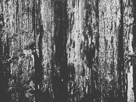 Wood grunge texture in black and white. Wooden background. Vector template. Grunge vector texture. Vector Illustration