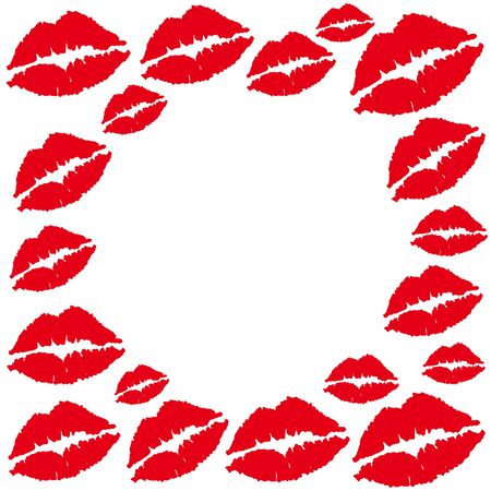 Set of lips silhouettes. Vector illusttration Ilustracja