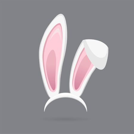 Easter bunny ears isolated. Cartoon cute rabbit Headband for poster, banner or invitation cards. Vector illustration Vecteurs