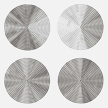grunge halftone drawing textures set. vector illustration