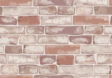 Oude bakstenen muur. Naadloze textuur. Vector illustratie.