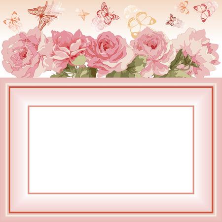 Carte postale avec le bouquet de luxe de peonies.Vector illustration. Banque d'images - 31397545