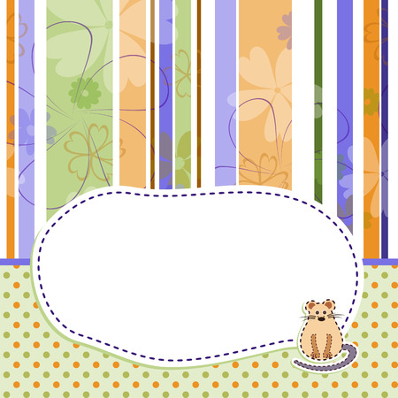 Baby greeting card or invitation Vector