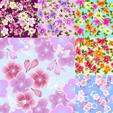 Mooie naadloze bloemmotief. Illustraties en vector kunst.